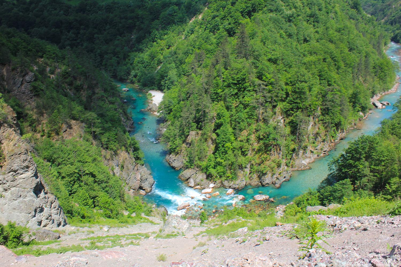Разворот реки Тара, Черногория