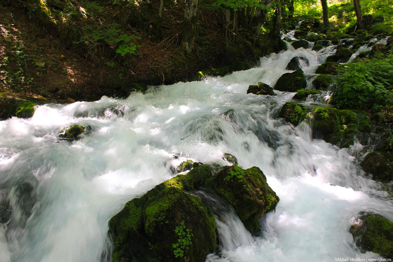Водопад в Черногории