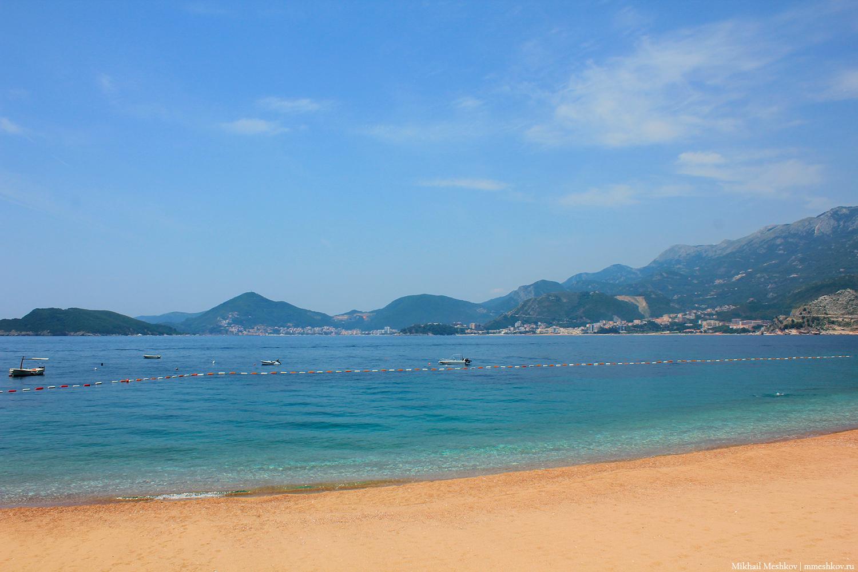 Свети-Стефан пляж