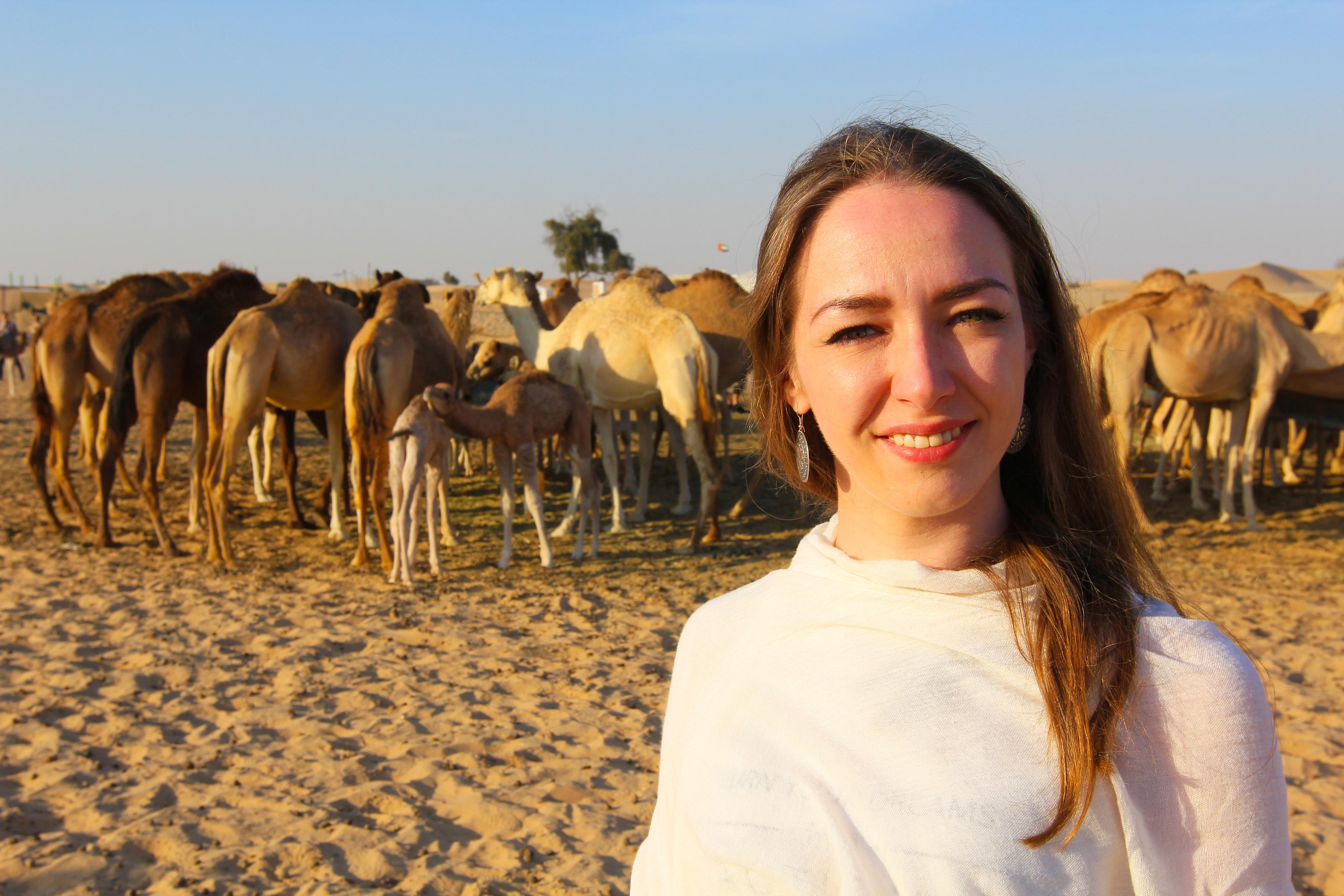 Наташа с верблюдом