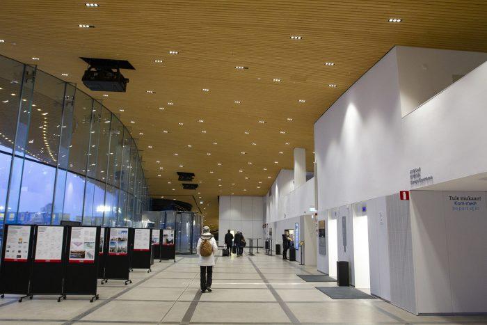 Библиотека Oodi в Хельсинки. Первый этаж