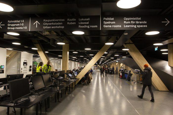 Библиотека Oodi в Хельсинки. Второй этаж
