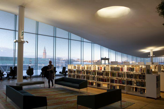 Библиотека Oodi в Хельсинки. Третий этаж
