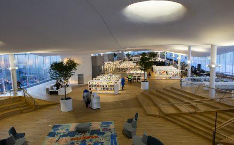 Библиотека oodi в Хельсинки